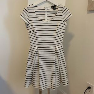 NWT Aqua black and white stripe mini dress